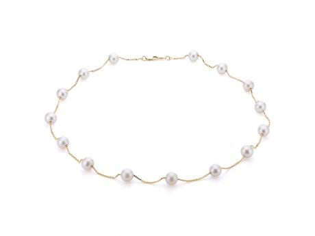 14K Yellow Gold Freshwater Pearl Necklace by Imperial