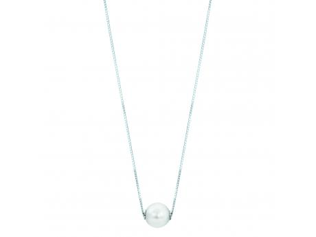 14K White Gold Akoya Pearl Necklace by Imperial