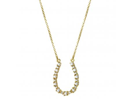 14K Yellow Gold Freshwater Pearl Necklace - Who couldn't use a good luck charm? Especially one this precious! This 18