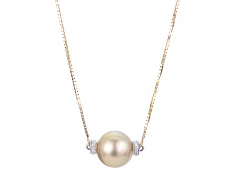 Golden South Sea Pearl Necklace - 17