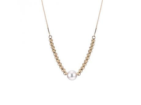 Imperial Gold Brilliance Necklace - 14KY AKOYA & BRILLIANCE BEAD NECKLACE