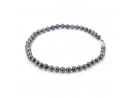 14K White Gold Tahitian Pearl Necklace - 18