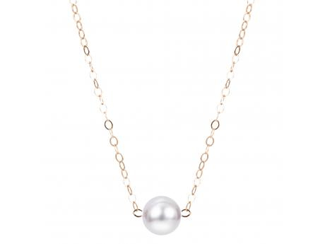 14K Yellow Gold Akoya Pearl Necklace - 15