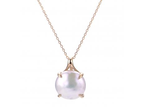 14K Yellow Gold Freshwater Pearl Pendant by Imperial Pearls