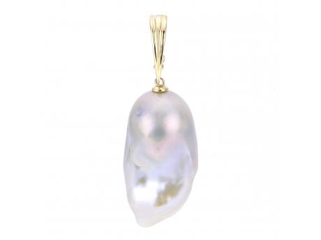 14K Yellow Gold Freshwater Pearl Other - (14KY 15-17 MM BAROQUE FWCP NUCLEATED PEARL ENHANCER)