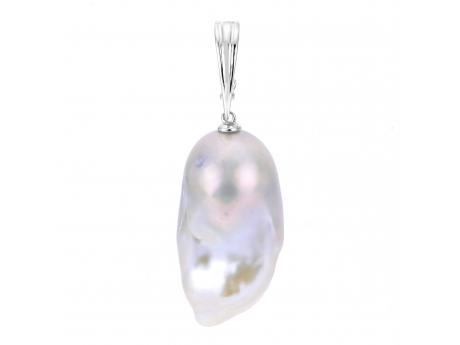 14K White Gold Freshwater Pearl Other - (14KW 15-17 MM BAROQUE FWCP NUCLEATED PEARL ENHANCER)