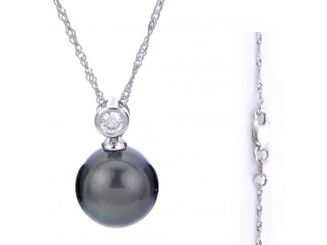14K Yellow Gold Tahitian Pearl Pendant by Imperial Pearls