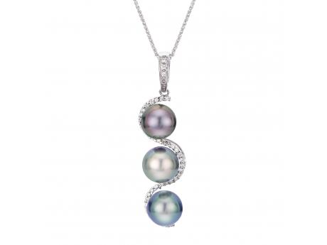 14K White Gold Tahitian Pearl Other - 18