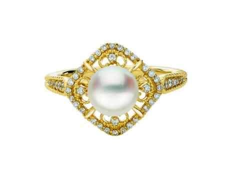 Sterling Silver Akoya Pearl Ring by Imperial Pearls