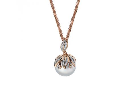 14K Rose Gold Freshwater Pearl Pendant by Imperial