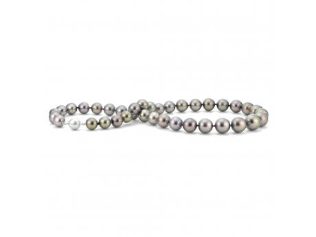 Necklaces - 14K White Gold Tahitian Pearl Necklace