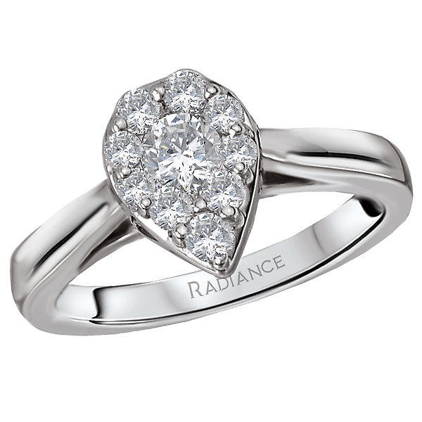 Radiance Halo Diamond Ring by Radiance