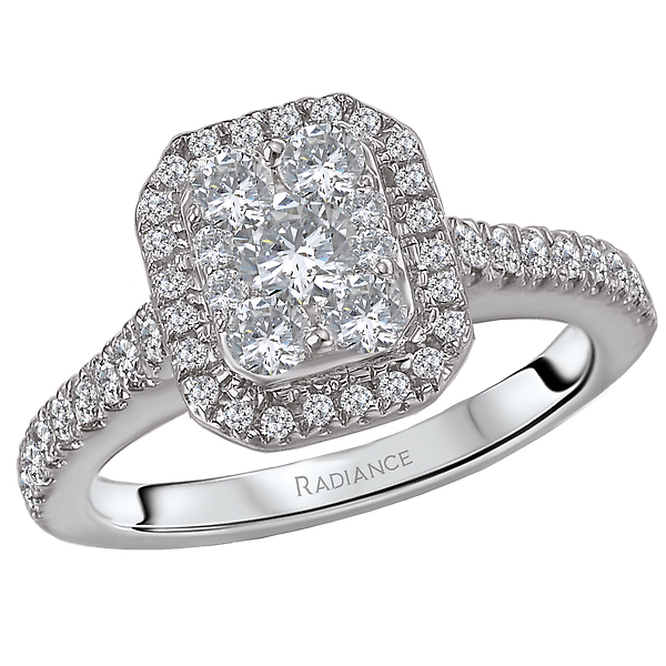 Halo Diamond Ring by Radiance