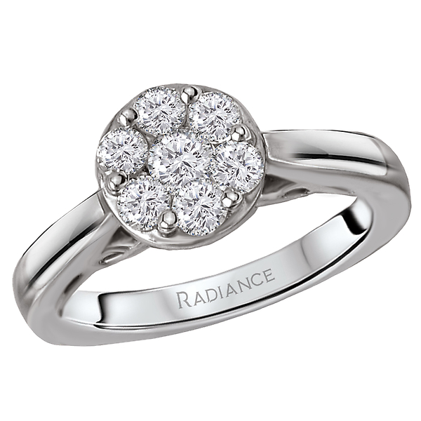 Engagement Rings - Diamond Cluster Bridal Ring