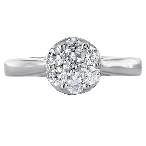 Engagement Rings - Diamond Cluster Bridal Ring - image #4
