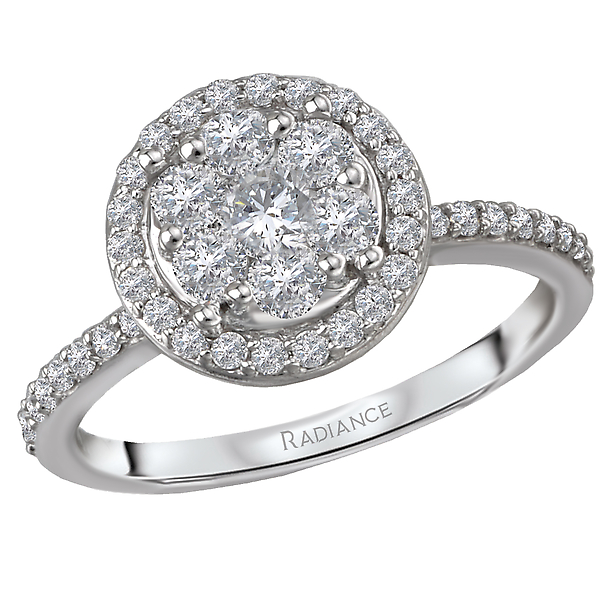 Engagement Rings - Halo Diamond Cluster Ringw