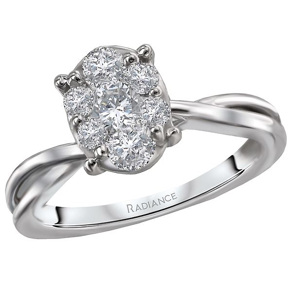 Engagement Rings - Classic Diamond Cluster Ring