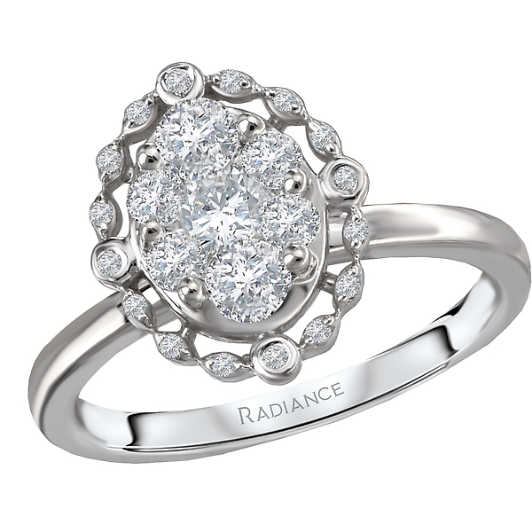 Engagement Rings - Halo Diamond Cluster Ring