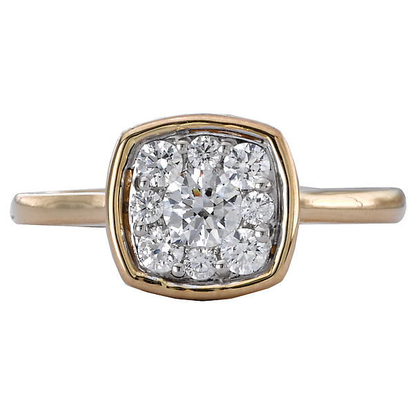 Rings - Diamond Cluster Ring - image #4