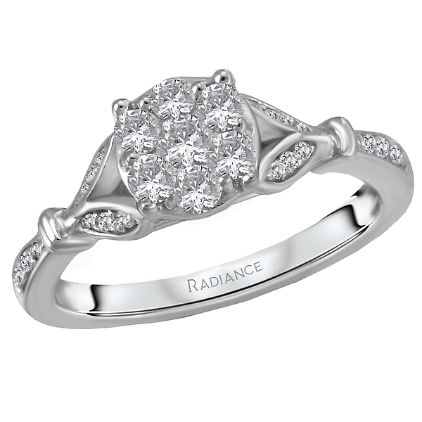 Classic Diamond Cluster Ring by Radiance