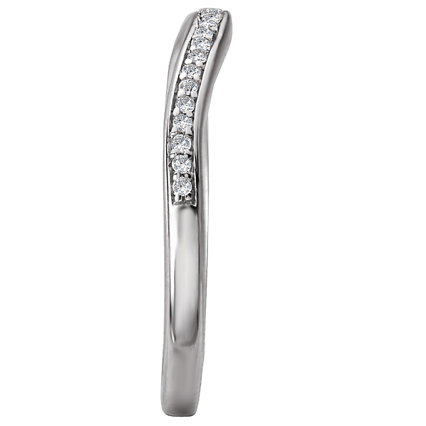 Rings - Curved Wedding Band - image #3