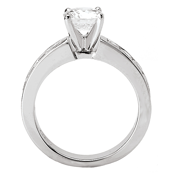 Rings - Peg Head Semi-Mount Diamond Ring - image 2