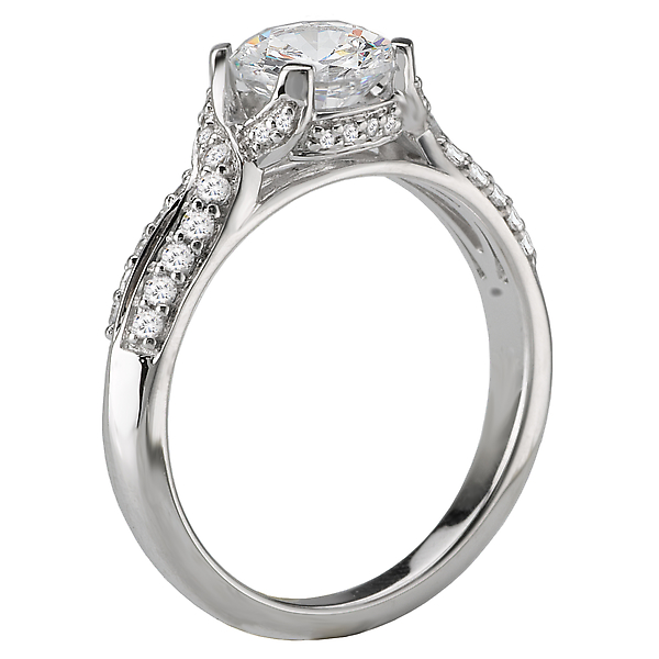 Rings - Vintage Semi-Mount Diamond Ring - image #2