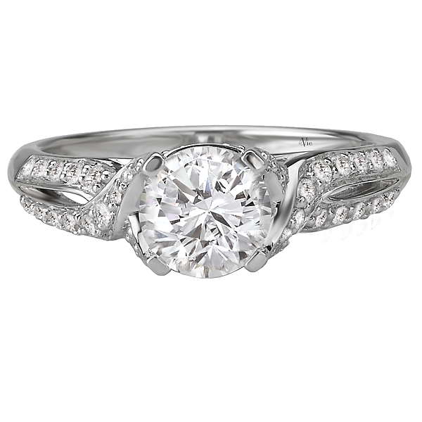 Rings - Vintage Semi-Mount Diamond Ring - image #4