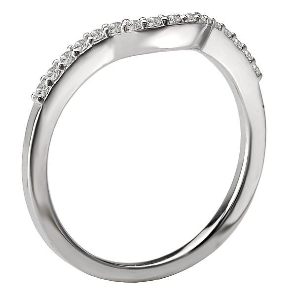 Rings - Curved Wedding Band - image 2