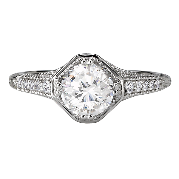 Rings - Classic Semi-Mount Diamond Ring - image 4
