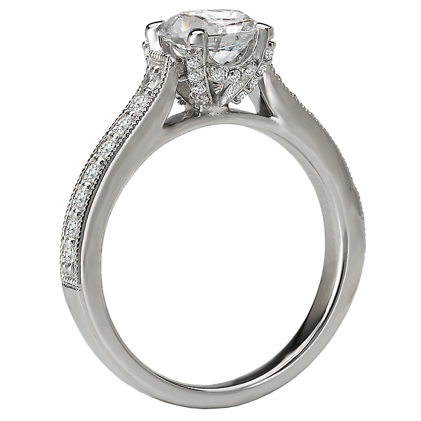 Rings - Classic Semi-Mount Diamond Ring - image 2