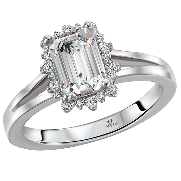 Split Shank Semi-Mount Diamond Ring by La Vie