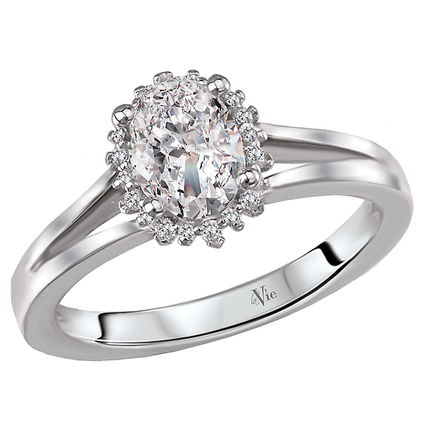 Rings - Split Shank Semi-Mount Diamond Ring