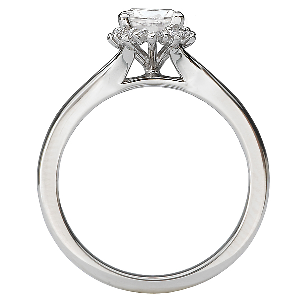 Rings - Split Shank Semi-Mount Diamond Ring - image #2
