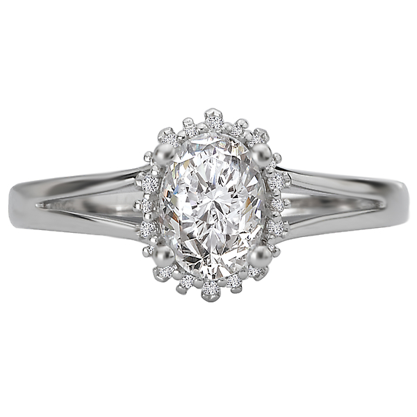 Rings - Split Shank Semi-Mount Diamond Ring - image #4