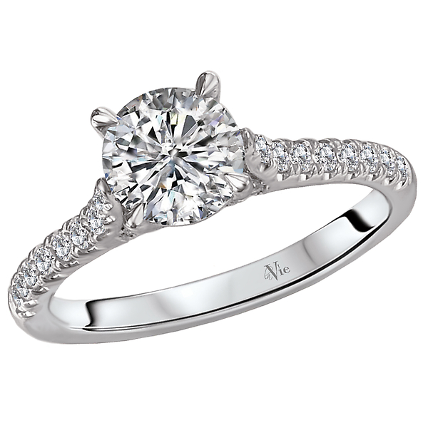 Rings - Peg Head Semi-Mount Diamond Ring
