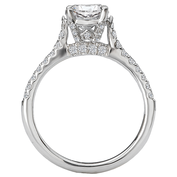 Rings - Peg Head Semi-Mount Diamond Ring - image #2