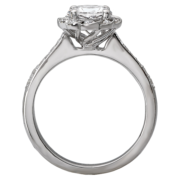 Rings - Halo Semi-Mount Diamond Ring - image #2