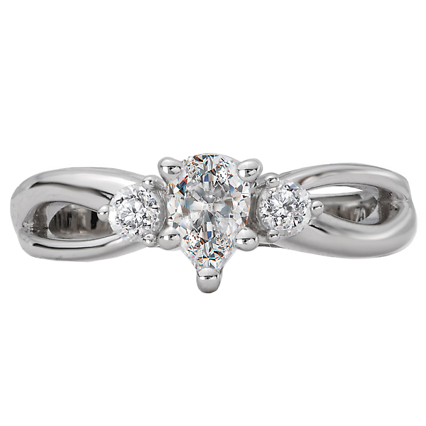 Rings - 3 Stone Semi-Mount Diamond Ring - image #4