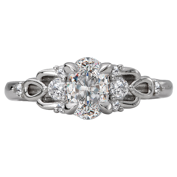 Rings - Classic Semi-Mount Diamond Ring - image #4
