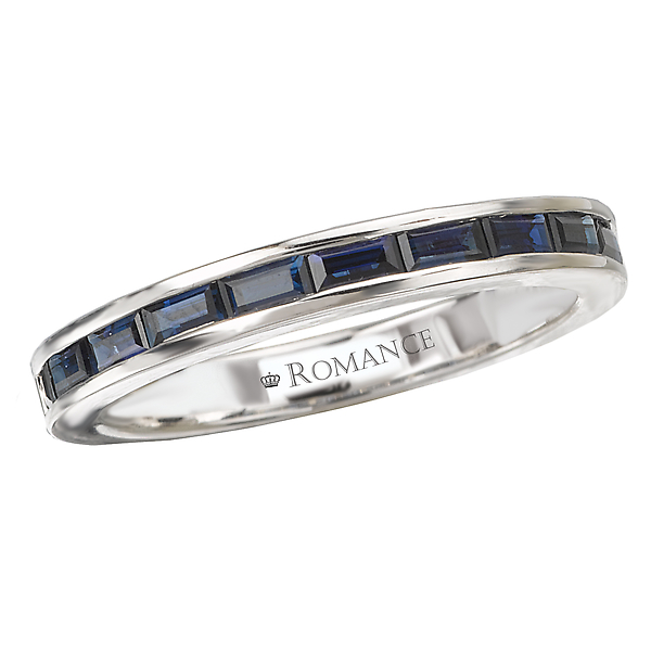 Sapphire Matching Band by Romance Diamond