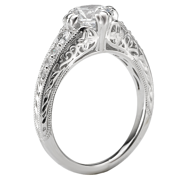 Rings - Vintage Semi-Mount Diamond Ring - image 2