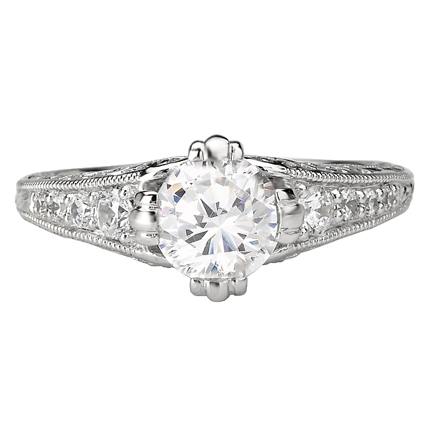 Rings - Vintage Semi-Mount Diamond Ring - image 4