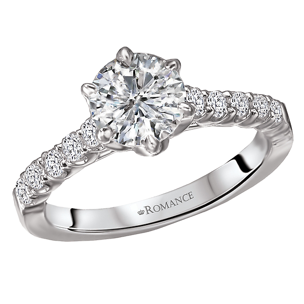 Classic Semi-Mount Diamond Ring by Romance Diamond