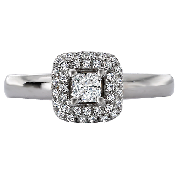 Rings - Halo Semi-Mount Diamond Ring - image #4