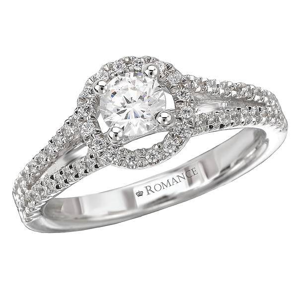 Round Halo Diamond Ring by Romance Diamond