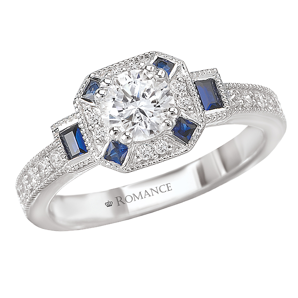 Sapphire and Diamond Ring by Romance Diamond
