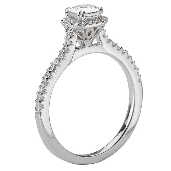 Engagement Rings - Halo Diamond Ring - image #2