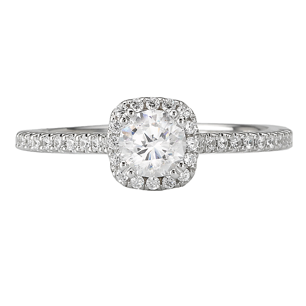 Engagement Rings - Halo Diamond Ring - image #4