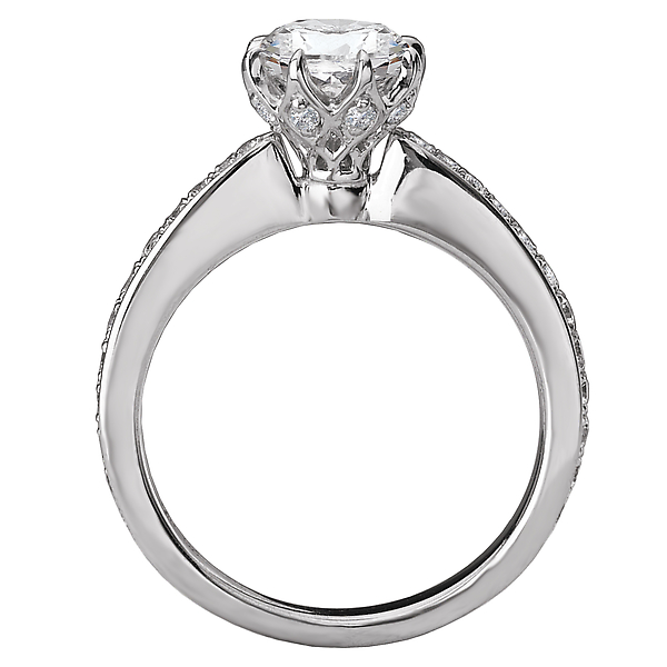 Rings - Classic Semi-Mount Diamond Ring - image #2